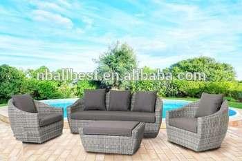 2015个新设计的柳条庭院对话设置廉价藤家具沙发套设计和价格