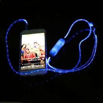 促销高档耳机发光耳机免提手机配件礼品