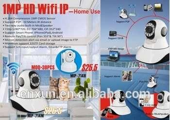 推广!迷你无线IP摄像机无线720P高清智能摄像机P2P婴儿监视器,闭路电视监控摄像头手机远程家庭保护