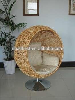 家庭花园用藤柳条庭院秋千蛋椅圆挂床