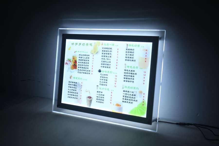 Led Menu Light Box