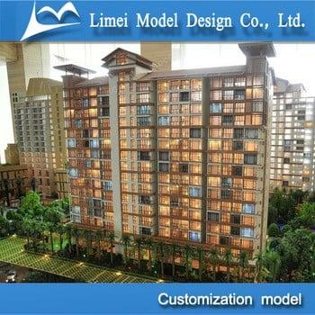 三维房地产设计模型/建筑规模模型制作/施工模型
