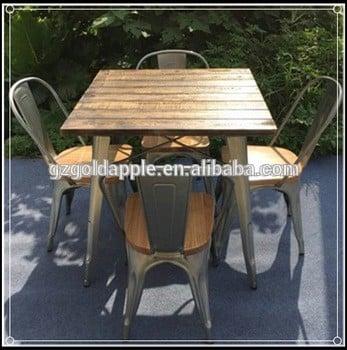 户外花园餐厅餐厅餐桌家具复古木广场咖啡餐桌椅套