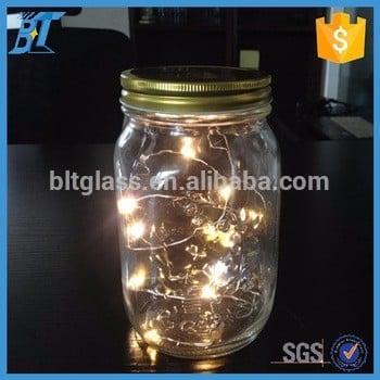 1000ml embossed solar mason jar solar glass jar led solar lights with lid