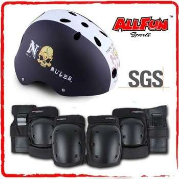 Kids Adult safety skate helmet Sports protective gear safety pad safeguard(knee elbow wrist) support pad