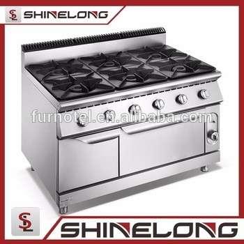 Full Series Furnotel Kitchen Equipment 6 Burner Gas Range ...