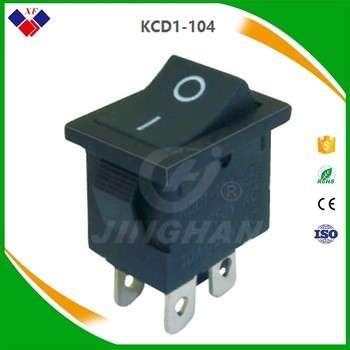 船型开关系列kcd1-104 6a 250V直流电源开关10a 125v