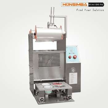 DHF801DN Semi-automatic Yogurt cup sealing cut machine