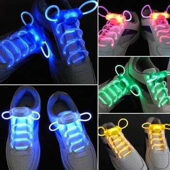 酷时尚LED鞋带鞋鞋带闪光发光辉光贴扁鞋带鞋带派对鞋配件