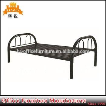 黑白钢成人设计圆管架单金属床