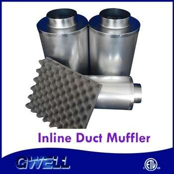 Factory Direct Supply UV Penetrable greenhouse inline duct muffler