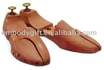 沃尔玛审计美国雪松木鞋树可调节男女鞋树