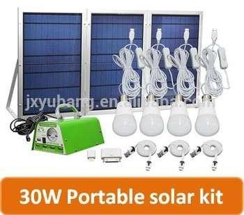 30W Portable Solar Lighting System Home Solar Energy System Solar