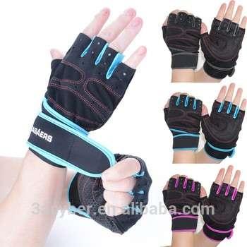 新1双防震自行车手套/自行车手套/运动手套半指