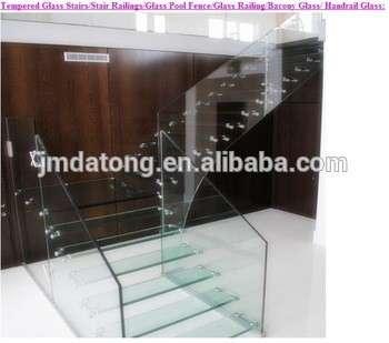 钢化玻璃楼梯轨,安全夹层玻璃楼梯