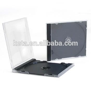 高质量的10.4mm单黑色塑料PS宝石CD盒