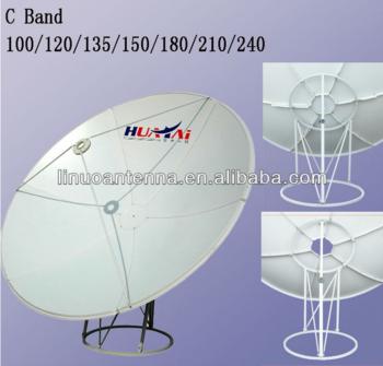 碟形卫星C波段240cm卫星天线地面安装/电视接收机
