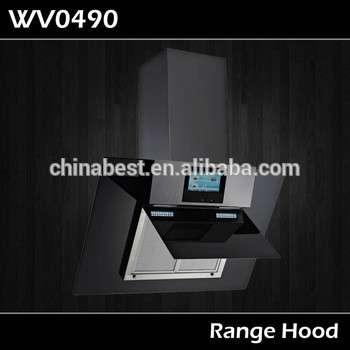 新时尚的触摸控制烟囱筒壁装厨房抽油烟机wv0490 +电视