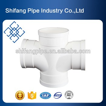 4 way tee cross pvc pipe Fittings for water drainage