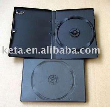 标准14mm单件黑色塑料自动包装长DVD盒