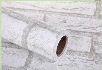 白砖防水pvc自粘膜装饰用墙纸