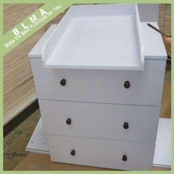 三聚氰胺微粒板白色婴儿卧室家具用三聚氰胺储藏柜