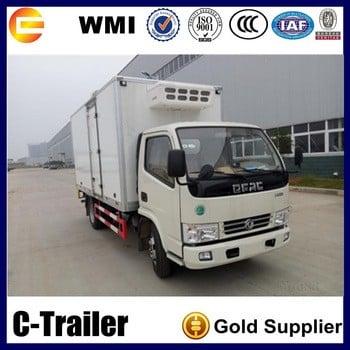 中国顶级品牌4x2冷藏车运输freezeor鱼肉轻卡车