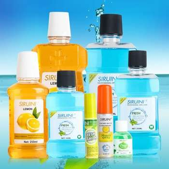 批发价格OEM不同口味的防腐私人标签液体天然漱口水购买漱口水制造商