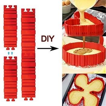 4台/套烤蛋糕硅酮材料创建形状的蛋糕模具新产品DIY蛋糕模具烤盘烤蛇