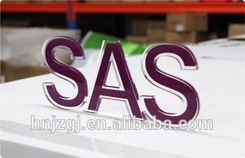 Casting Craftsman Customized colorful powder coated 3d metal plastic letters logo