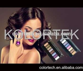 新产品化妆品厂接受标志8色丝绒眼影