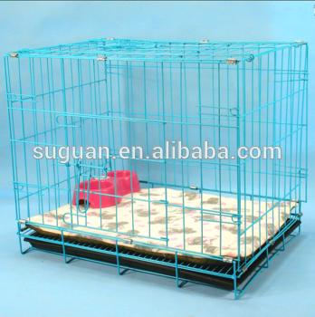 折叠金属狗猫家/小狗宠物2门Cage Crate Carrier