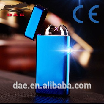 2016 new design electronic lighter X electric beam colorful double arc lighter led light electric rechargeable usb lighter