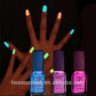 真正的BK环境发光指甲油,5027夜精灵荧光指甲油