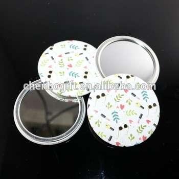热卖设计金属化妆镜、精美打印口袋镜、少女镜。