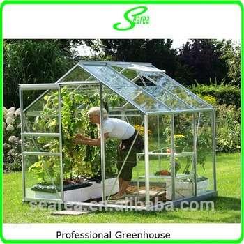 PC板耐用的铝花园温室