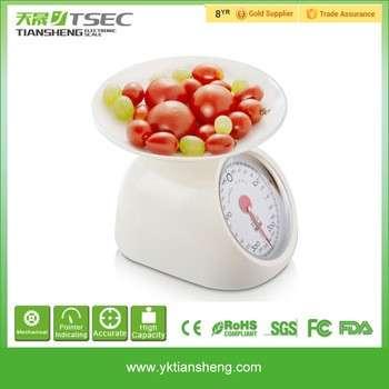 批发廉价不锈钢防水机械表盘厨房1公斤家庭秤