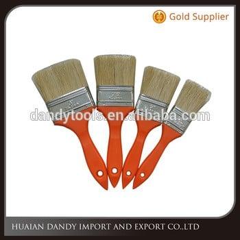 Light Orange Red New Raw Material Plastic handle Pig Bristle hair Paint brush Painting hand tools