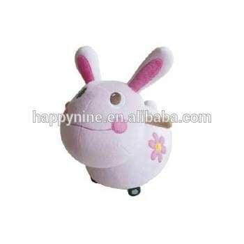 粉红兔设计的毛绒动物玩具与OEM和ODM