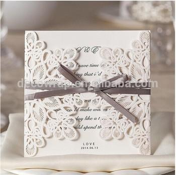 便宜的价格批发结婚证在中国激光切割雕刻小型豪华定制设计的婚礼邀请卡供应商