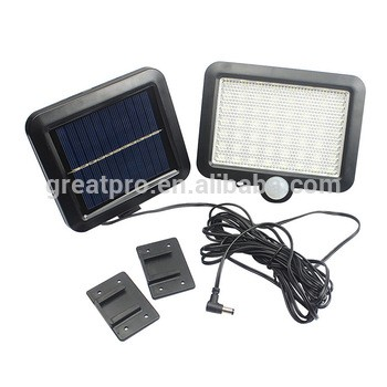 Solar panel, solar light separate design led wall light, Solar indoor light linear lamp 60 100 LEDs motion sensor light