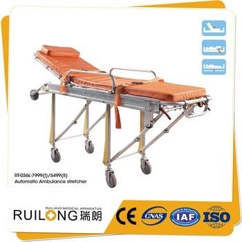 Transfer Patient Aluminum Alloy Automatic Loading Ambulance Stretcher