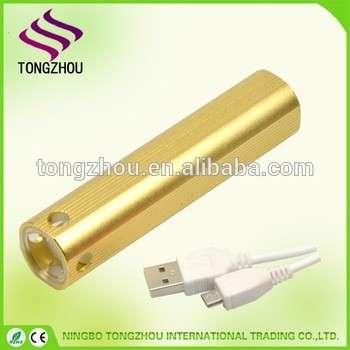 USB LED flashlight,XPE LED USB Rechargeable Flashlight,Mini pocket Rechargeable torch