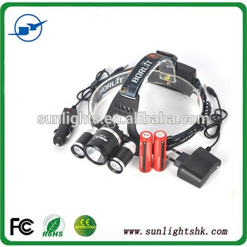 Wholesale adjustable base 30w rechargeable battery camping led headlamp