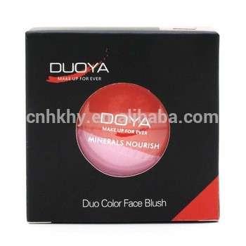 新推出的qbeka化妆脸化妆产品脸色绯红脸颊闪亮妆