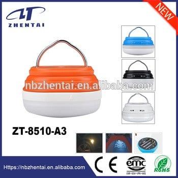 新的!3贴片LED野营灯,野营灯磁5种照明模式zt8510-a3各种颜色