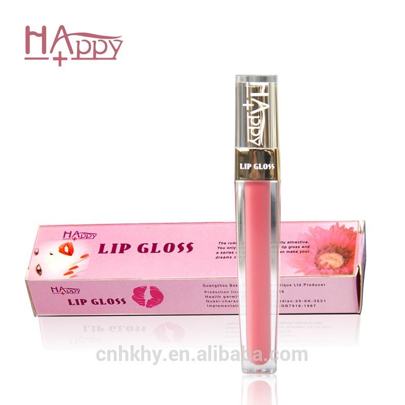厂家直销彩妆品快乐+唇彩私人标签天然唇彩化妆