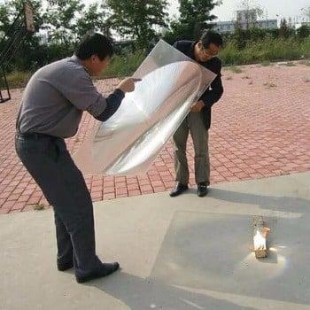 定制亚克力平凹大菲涅尔透镜太阳能集热器