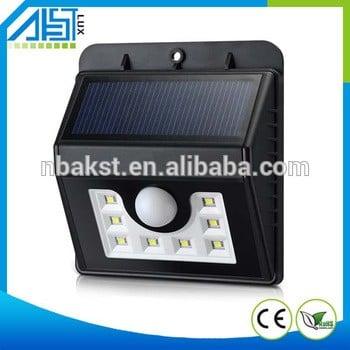 Super Bright Solar Powered 8 led Outdoor Motion Activated Detector solar motion sensor light