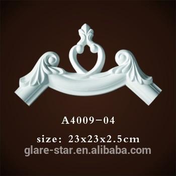 欧洲风格的装饰材料和成型聚氨酯建筑a4009-04椅子扶手
